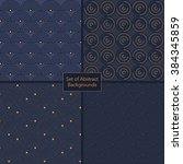 set of dark blue retro textures.... | Shutterstock .eps vector #384345859