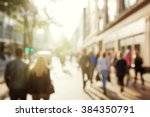 people in bokeh  street of... | Shutterstock . vector #384350791