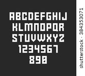 strict font. vector alphabet... | Shutterstock .eps vector #384353071