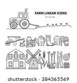set vector of farm symbols.... | Shutterstock .eps vector #384365569