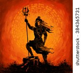 illustration of lord shiva ... | Shutterstock .eps vector #384365731