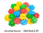 toys for children isolated on... | Shutterstock . vector #384366139