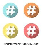 hashtag | Shutterstock .eps vector #384368785