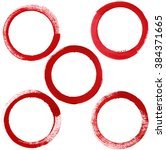 abstract red circles hand... | Shutterstock . vector #384371665