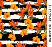 seamless summer pattern with... | Shutterstock .eps vector #384371845