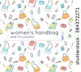 women's handbags and their... | Shutterstock .eps vector #384372271