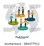 people connected design  | Shutterstock .eps vector #384377911