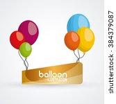 balloon icon design    Shutterstock .eps vector #384379087