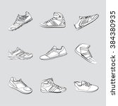 sports shoes | Shutterstock .eps vector #384380935