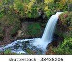 minnehaha waterfall in...   Shutterstock . vector #38438206