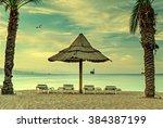 Sandy Beach Of Eilat In The...