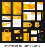 corporate identity template set.... | Shutterstock .eps vector #384392041