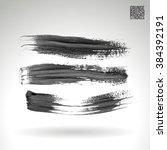 brush stroke and texture.... | Shutterstock .eps vector #384392191