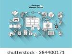 flat web banner template design ... | Shutterstock .eps vector #384400171