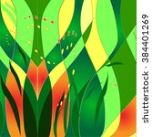 spring abstract grass | Shutterstock .eps vector #384401269