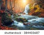 Beautiful Waterfall At Mountain ...