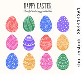 Hand Drawn Colorful Easter Egg...