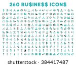 260 business glyph icons. style ... | Shutterstock . vector #384417487