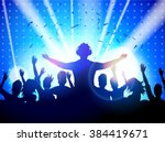 party people in club | Shutterstock .eps vector #384419671