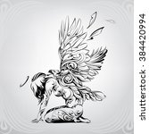 angel with eagle wings   Shutterstock .eps vector #384420994
