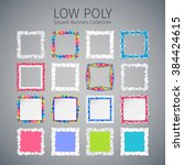 low polygonal abstract... | Shutterstock .eps vector #384424615