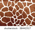 Giraffe Print For Background