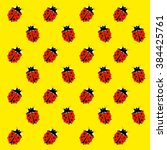 Art Ladybug Back Pattern Yellow