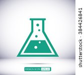 laboratory glass icon | Shutterstock .eps vector #384426841