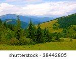 Nice mountain landscape - stock photo