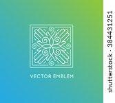 vector logo design template in... | Shutterstock .eps vector #384431251