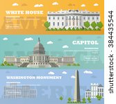 washington dc tourist landmark... | Shutterstock .eps vector #384435544