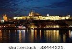 prague castle at night | Shutterstock . vector #38444221