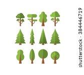 set of  trees . vector... | Shutterstock .eps vector #384446719