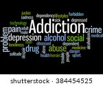addiction  word cloud concept... | Shutterstock . vector #384454525