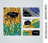 set of vector design templates. ... | Shutterstock .eps vector #384457891