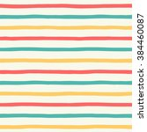 hand drawn colorful stripes... | Shutterstock .eps vector #384460087