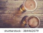 Overhead Shot Of Beer Glasses...