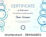 certificate or diploma template.... | Shutterstock .eps vector #384466801