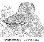 hand drawn ink pattern.... | Shutterstock .eps vector #384467161