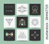sacred geometry  set of minimal ... | Shutterstock .eps vector #384467725