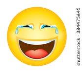 emoji emoticon in tears... | Shutterstock .eps vector #384475645