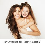 bright picture of hugging... | Shutterstock . vector #384483859