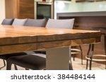 close up of a luxurious table... | Shutterstock . vector #384484144