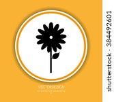 flower icon design  | Shutterstock .eps vector #384492601