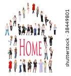 under one roof | Shutterstock . vector #38449801