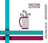 golf club design  | Shutterstock .eps vector #384500305