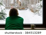 girl look into the window and... | Shutterstock . vector #384513289