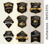 premium coffee labels... | Shutterstock . vector #384515551