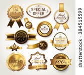 elegant golden labels... | Shutterstock . vector #384515599
