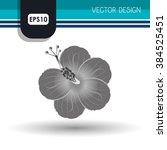 flower icon design  | Shutterstock .eps vector #384525451